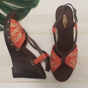 Seychelles Rock the Boat Orange Sandals 8.5 Wedge